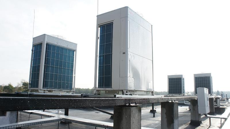 Agregaty VRF Fujitsu klimatyzacja w hotelu