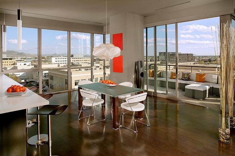 Klimatyzacja w mieszkaniu Kierland Loft Project by Heidi Rawson Design