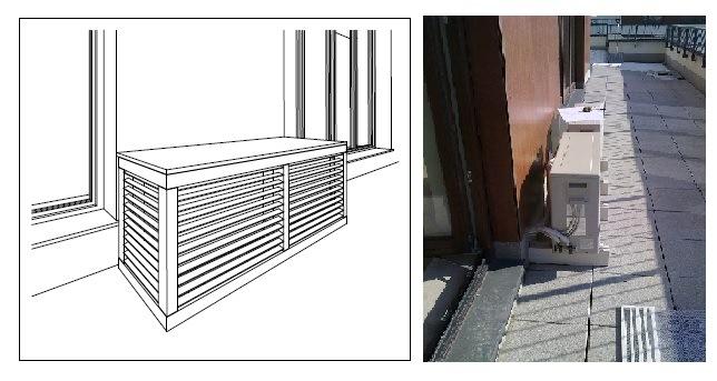 Montaż klimatyzacji na balkonie Projekt Magdalena Dudzińska