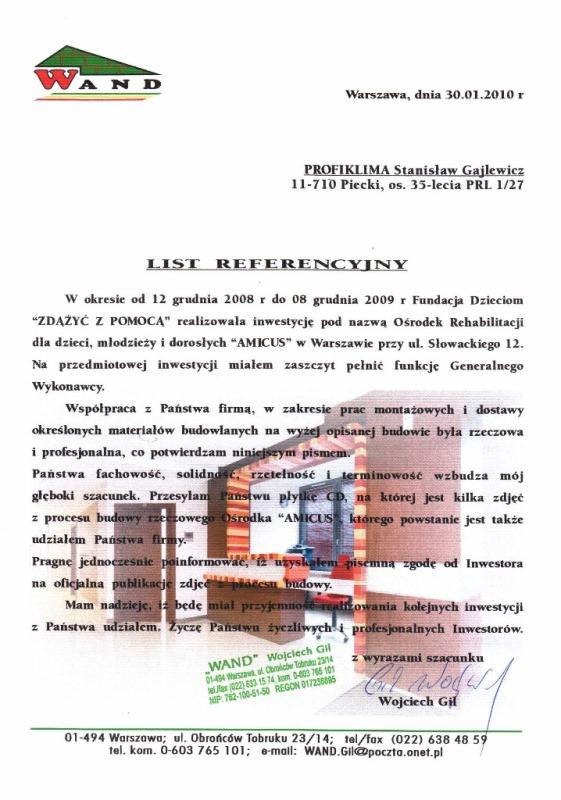 Montaż klimatyzacji w biurze Amicus Warszawa