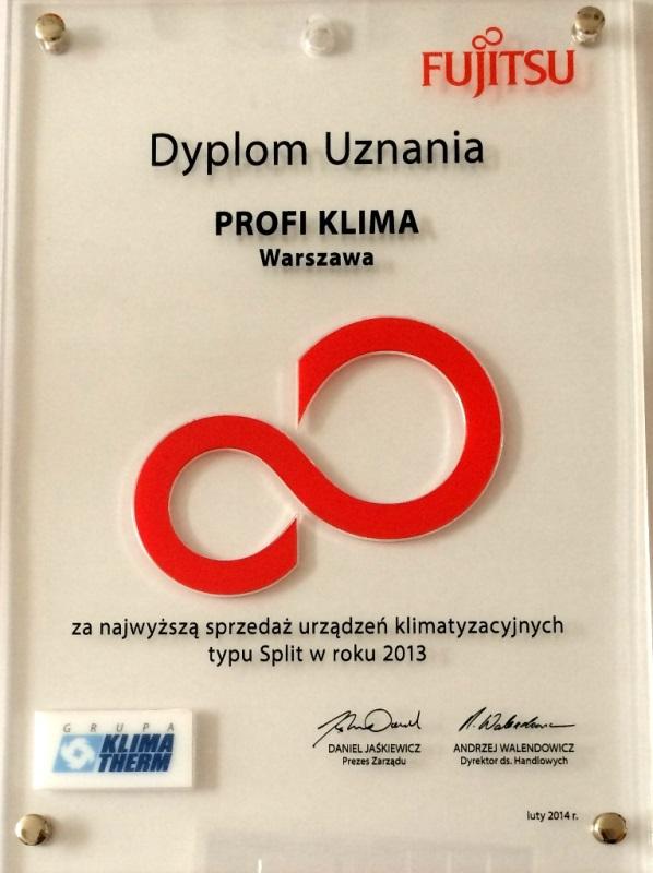 Nagroda za największą sprzedaż urządzeń marki Fujitsu 2013